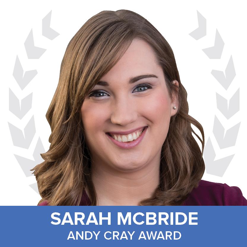 Sarah McBride - Andy Cray Award