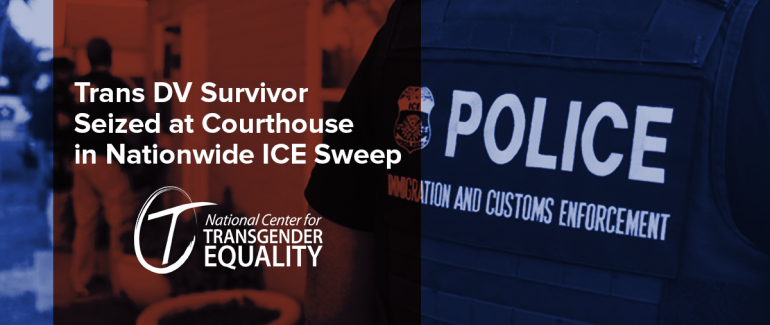 Trans DV Survivor Seized at Courthouse in Nationwide ICE Sweep