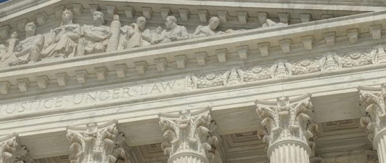 Photo of the Supreme Court in the sunlight