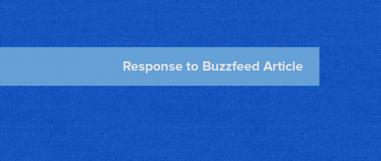 response to buzzfeed article