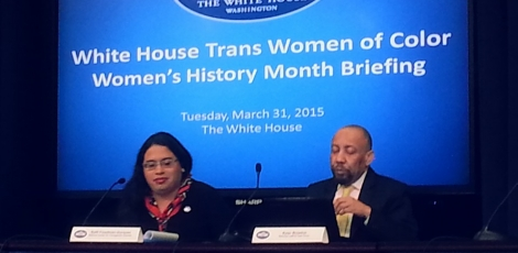 Photo of Raffi Freedman-Gurspan and Kylar Broadus at White House Briefing on Trans women of Color
